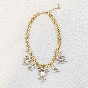 Jewelry - Crystal and Gold Statement Necklace